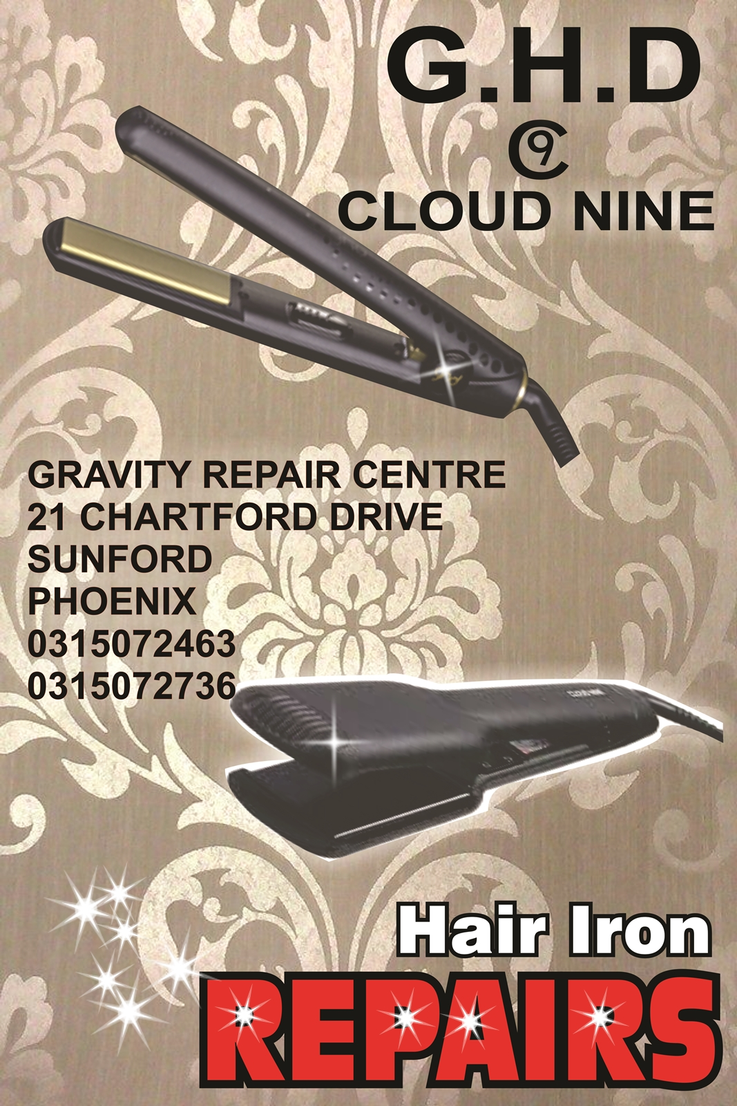 GHD REPAIRS CLOUD 9 REPAIRS GLAMPALM HAIR IRON REPAIRS CLOUDNINE HAIR IRON  REPAIRS BHE HAIR IRONS SPECIALIST