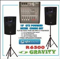 Flower Stand on Qtx Powered Desk Mixer P A Combo   Disco   Dj   P A  Equipment