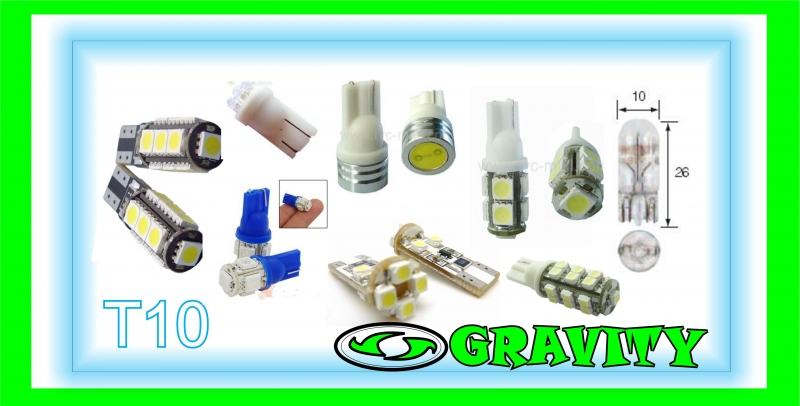 CAR PARK LIGHT LED BULBS SUPER WHITE @GRAVITY AUDIO 0315072463 DURBAN