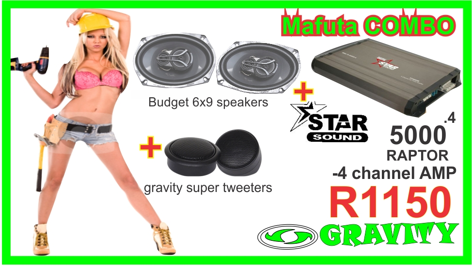 MAFUTA STARSOUND AMP AND 6X9 SPEAKER COMBO ONLY AT GRAVITY AUDIO STORE 0315072736
