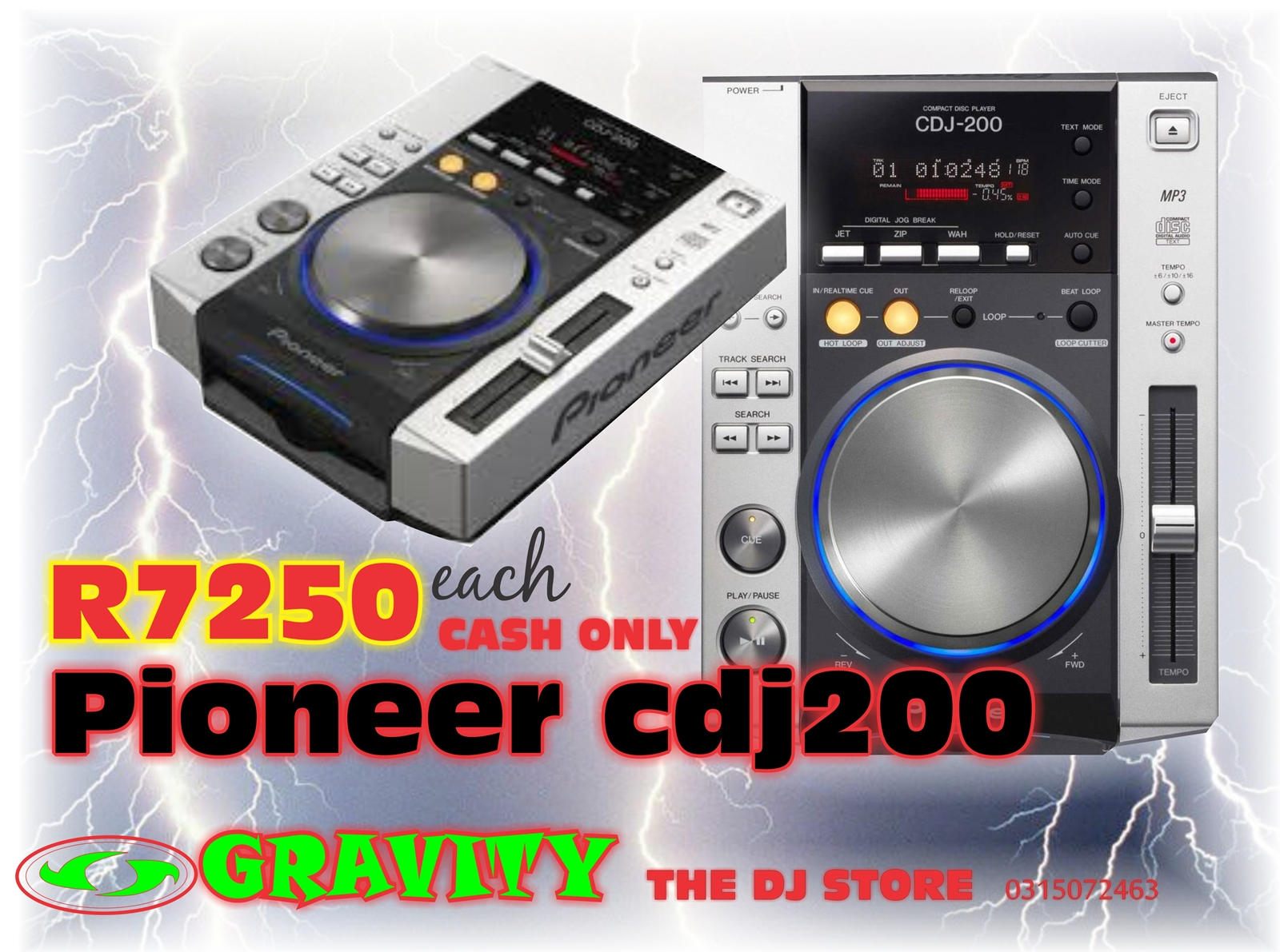 pioneer cdj 200 dj cd mp3 gravity dj store 0315072463 durban cheapest deal in pioneer cdj 200
